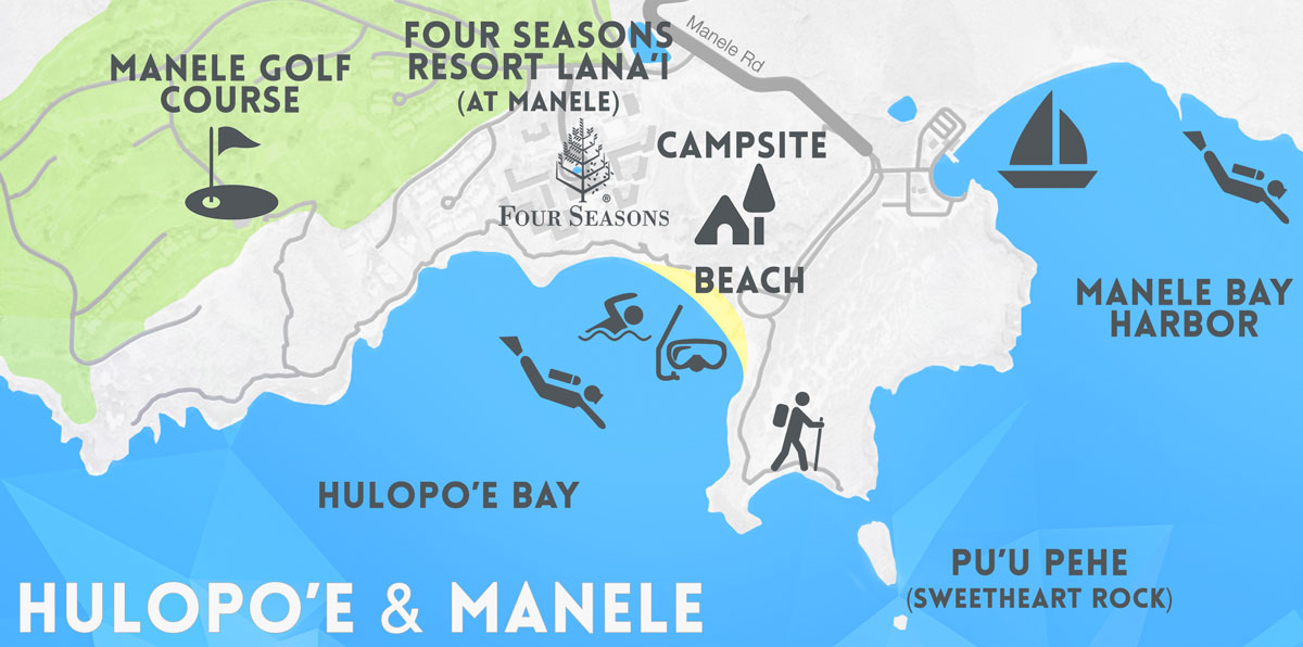 hulopoe and manele map